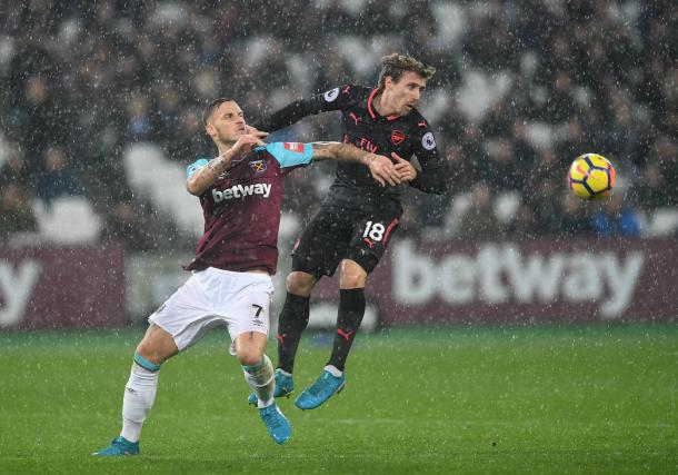 Imagen del partido entre el West Ham y el Arsenal   Fotografía: Arsenal