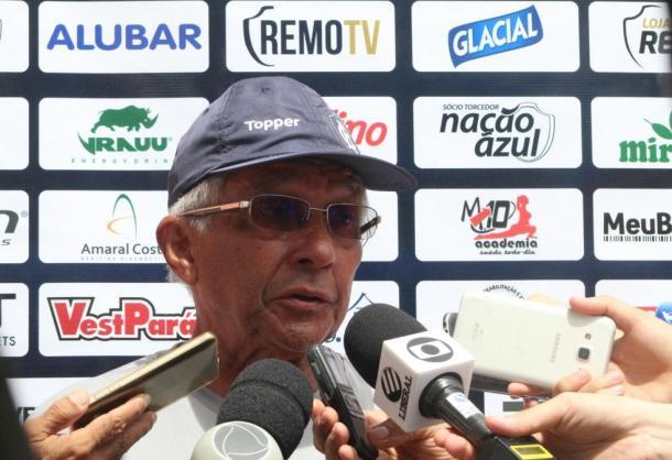 Comandante azulino ainda não confirma equipe titular na reestreia em clássico (Foto: Fábio Will/Ascom Remo)