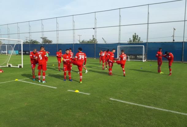 Último treinamento do Papão antes do jogo foi realizado no CT do Grêmio (Foto: Divulgação/Paysandu)