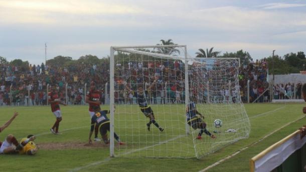 O pior momento atleticano na temporada: a eliminação precoce na Copa do Brasil (Foto: Divulgação/ACG)
