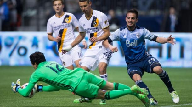 There were more fouls committed then shots created between the Los Angeles Galaxy and the Vancouver Whitecaps on Saturday. Photo provided by Canadian Press,