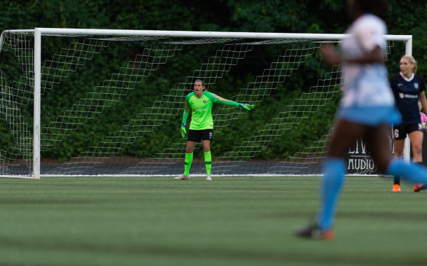 Seattle goalkeeper Lydia Williams made four saves in the win. | Photo courtesy @ReignFC