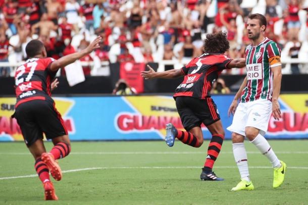 Dois gols em dois jogos: Arão tem sido peça vital nos últimos Fla-Flus   Foto: Gilvan de Souza/Flamengo