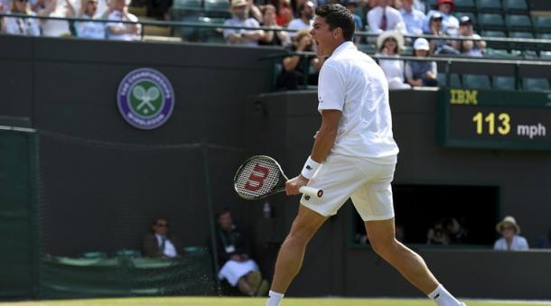 Raonic powered past Sam Querrey in the last eight. (Image source: indianexpress.com)