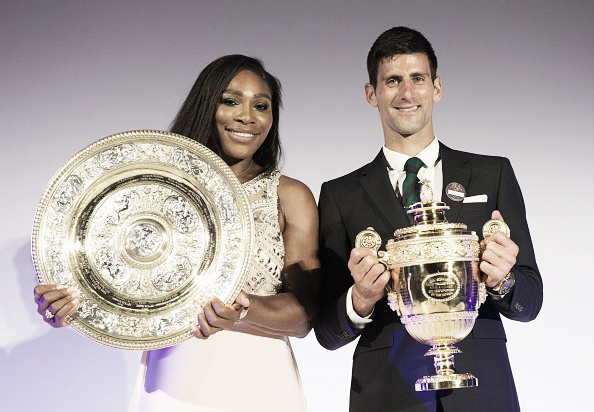 Serena Williams and Novak Djokovic will not earn as much as they once expected should they win at Wimbledon. (Photo: Getty Images)