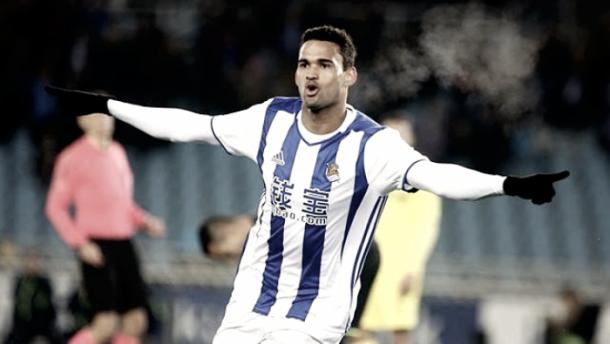 W. José celebra su gol ante el Villarreal. Foto: Real Sociedad