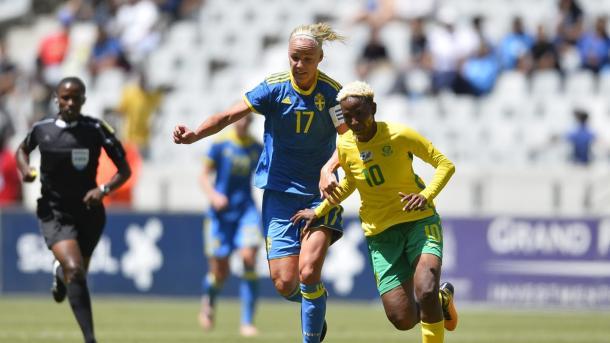 Una jugadora sudafricana en un partido / Foto: FIFA