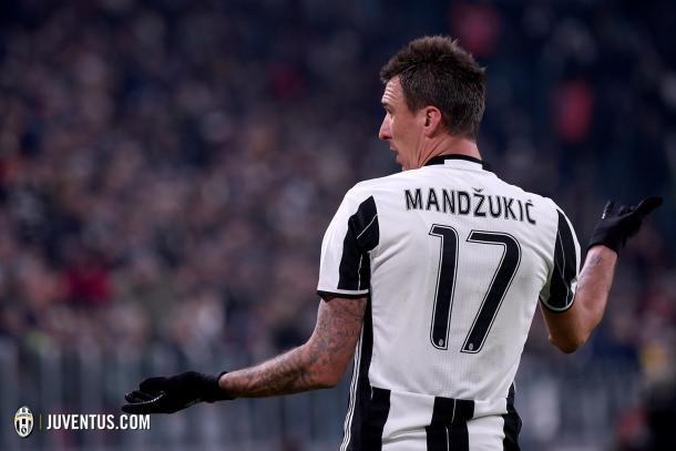 Mandzukic en una acción del partido (Juventus.com)