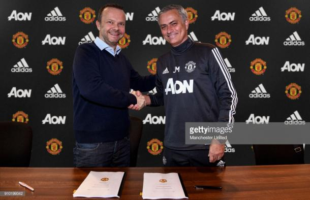 Woodward and Mourinho are no longer all smiles (Phot: Manchester United / Getty Images)