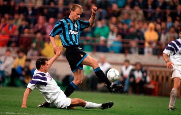 Bergkamp during his time at Inter. | Source: world soccer