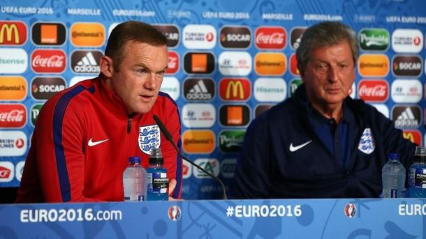 Rooney was quizzed on Slutsky's comments during the press conference. | Image source: UEFA