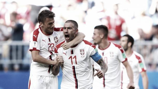 Kolarov celebrando un gol con su equipo. | Fuente: FIFA.com