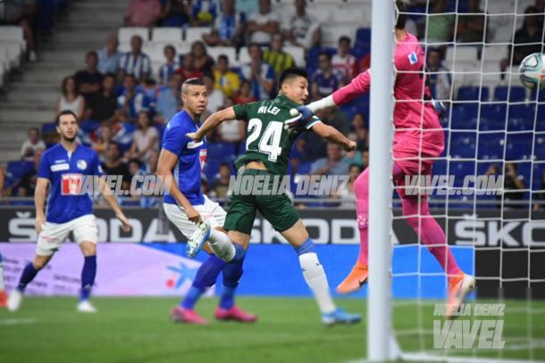 Wu Lei marcó nada más empezar el partido | Foto: Noelia Déniz