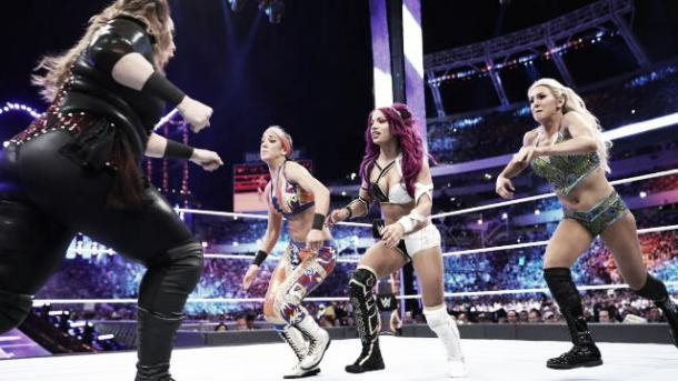 It is time for a singles match at 'Mania. Photo-WWE.com