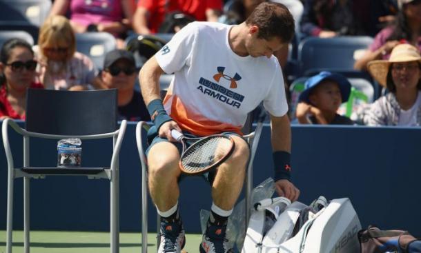 Murray se retira de treino com dores/ Foto: AFP