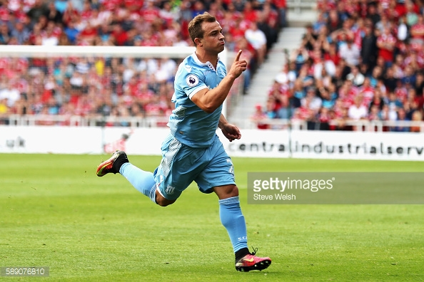 The signing of Xherdan Shaqiri last summer shows Stoke City's transformation under Mark Hughes. | Photo: Steve Welsh/Getty Images