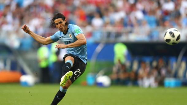 After numerous attempts, Edison Cavani finally opened his account at the World Cup | Source: Getty Images via FIFA.com