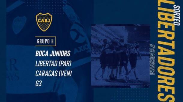 Grupo H, Copa Libertadores 2020. Foto: Boca Juniors Oficial.