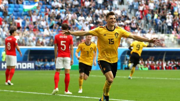 Thomas Meunier scored his first ever World Cup goal today | Source: Getty Images via FIFA.com