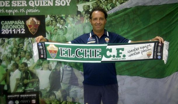 Bordalás en su presentación con el Elche. / Foto: elchecf.es