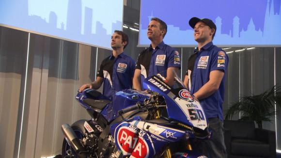 Durante la presentación del nuevo equipo para su regreso el campeonato. Foto vía World SBK