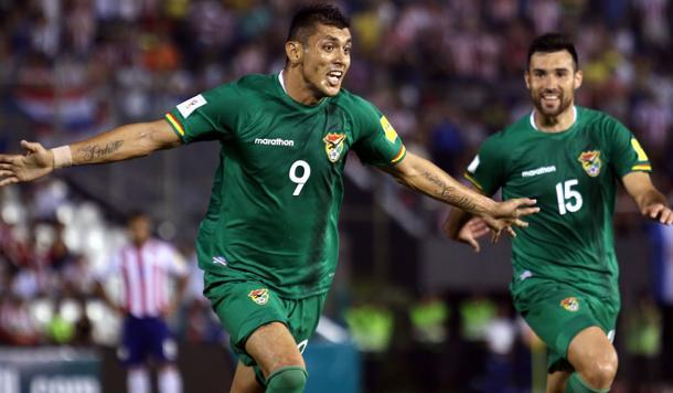 Yasmani Duck tras marcar un tanto al rival