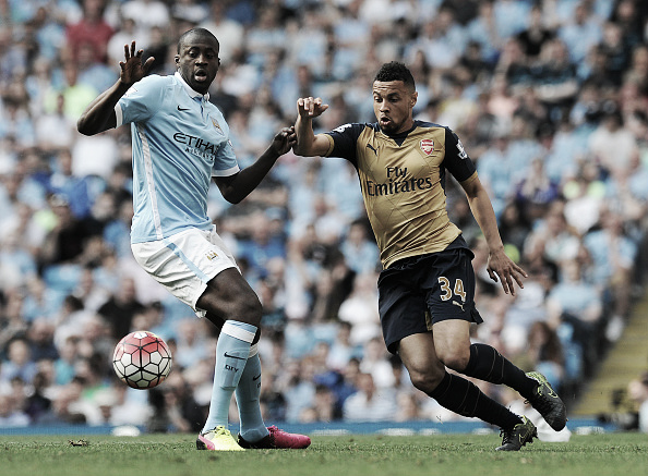 Yaya Toure, pictured against Arsenal, has been a huge influence for City (Photo: Stuart MacFarlane / Getty Images)