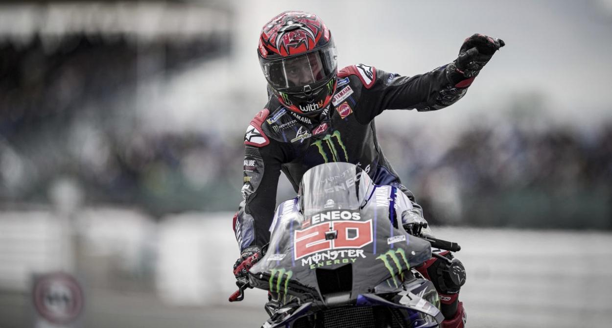 Fabio Quartararo tras finalizar la Q2 / Fuente: Monster Energy Yamaha