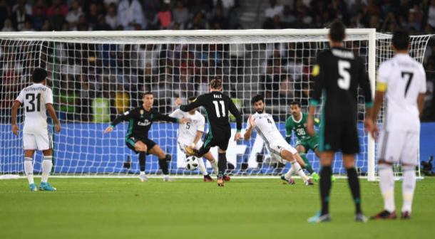 Momento do gol de Bale   Foto: David Ramos/Fifa
