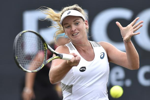 Vandeweghe finds the crucial break to take the first set | Photo: Ricoh Open