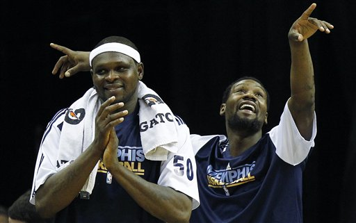 The Grizzlies lost Zach Randolph and Tony Allen during free agency and it seems to have impacted them greatly. Photo: AP/Mark Weber