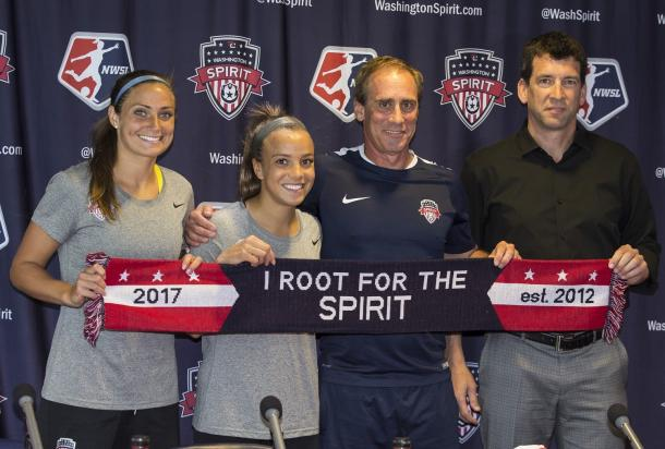 Washington Spirit teammates Shelina Zadorsky and Mallory Pugh will face off against each other in the upcoming friendlies for their respective countries, Canada and the United States. l Photo: Tony Quinn/ ISI Photos