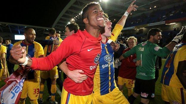 Zaha, Man of the Match after scoring a brace against Brighton HA. | Photo: BBC
