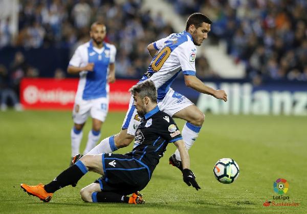 Zaldua en uno de sus últimos partidos como jugador del Leganés. | Foto: La Liga