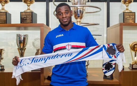 Duvan Zapata el día de su presentación   Foto:Sampdoria