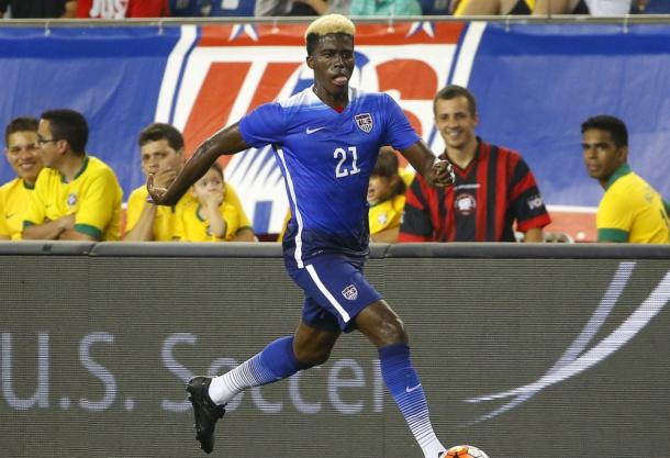Gyasi Zardes is one of many young Americans to have emerged under Jurgen Klinsmann. (Source: Winslow Townson/USA Today Sports)