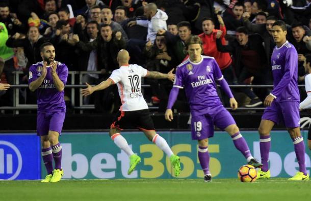 Zaza esulta dopo la rete al Real Madrid, www.corriere.it