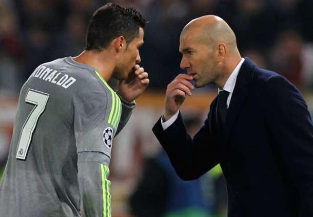 Cristiano Ronaldo e Zinedine Zidane a confronto - Foto Goal.com