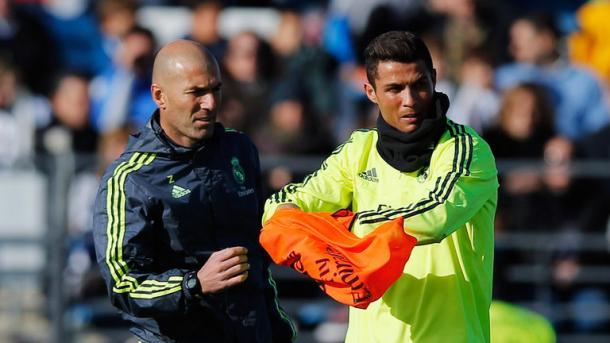 Zidane e Cristiano Ronaldo, skysports.com