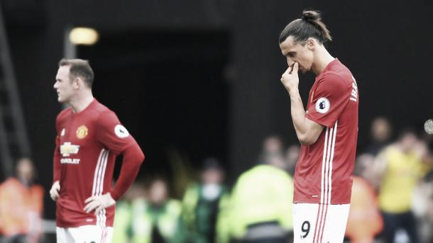 The Zlatan-Rooney partnership is not working. Photo: Sky Sports