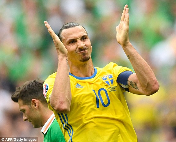 Ireland kept Ibrahimovic quiet in the first half (photo: Getty Images)