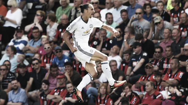 Ibrahimovic showed his quality against Bournemouth by netting from range | Photo: Sky Sports