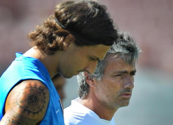 O sueco e o técnico português trabalharam juntos na Inter de Milão (Foto: Mark Ralston/Getty Images)