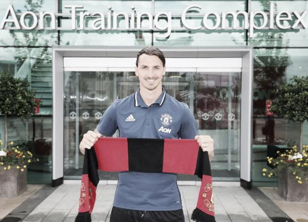 Zlatan Ibrahimovic has replaced Anthony Martial as United's number nine   Photo: Getty