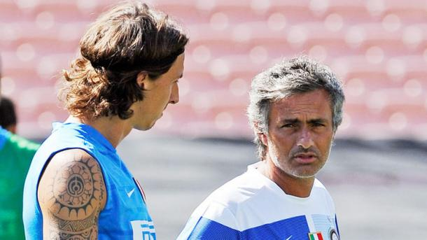 Above: Zlatan Ibrahimovic and Jose Mourinho during their time at Inter Milan | Photo: Sky Sports