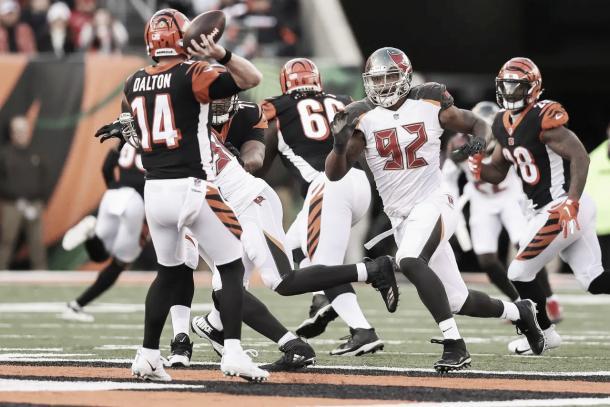 La defensa de Tampa Bay solo permitió 1 TD en la segunda mitad | Foto: Buccaneers.com