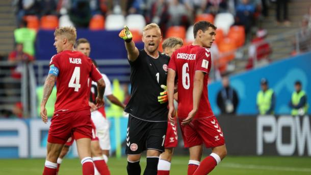 Kasper Schmeichel was in outstanding for for Denmark | Source: Getty Images via FIFA.com