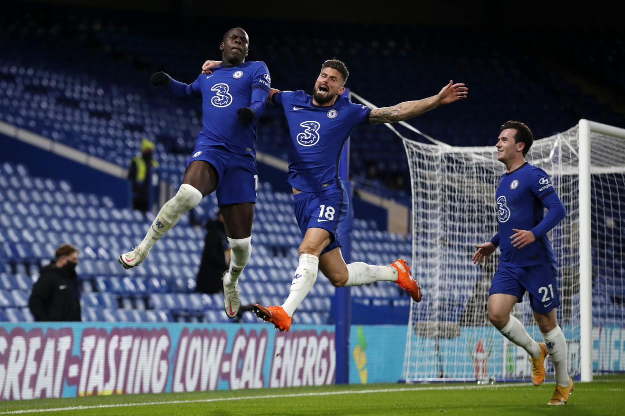 Zouma ganó en las alturas y puso en ventaja al Chelsea / Foto: Chelsea FC