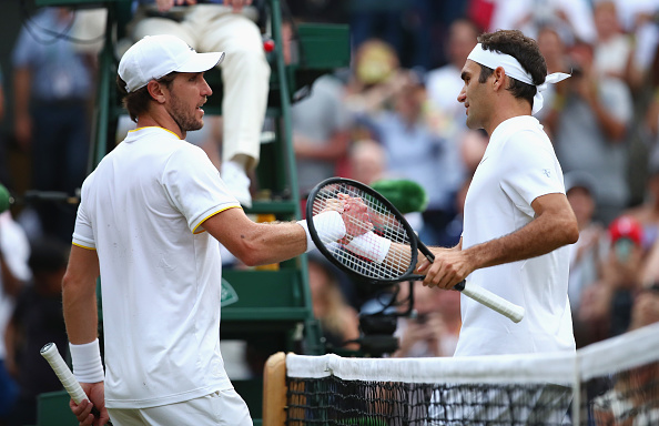 The two seeded players entertained the crowd on Centre Court (Photo by Clive Brunskill / Getty)