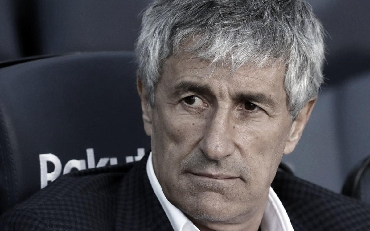 Setién frisa não se sentir campeão com possível fim da La Liga, masreforçamomento apreensivo
